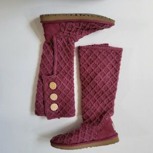 UGG Lattice Knit Cardy Tall Boots Size 8